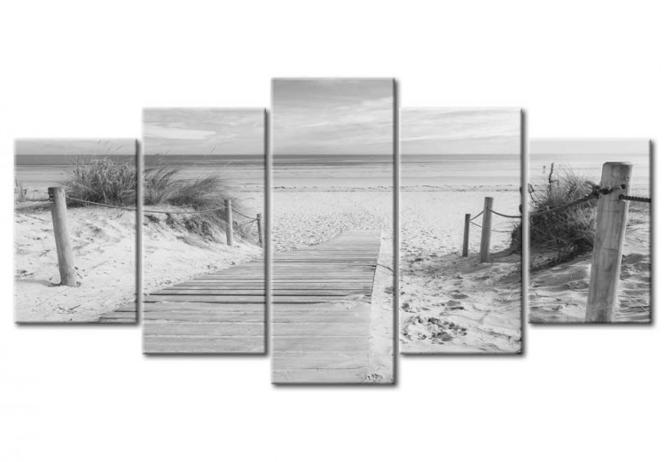 Morning on the beach - black and white