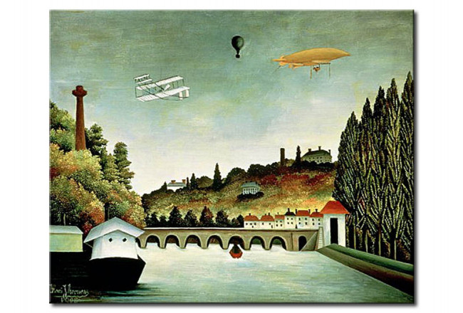 Riproduzione quadro View of the Bridge at Sevres and the Hills at Clamart, St. Cloud and Bellevue 107843