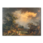 Quadro famoso Ideal lanscape during a storm 109743