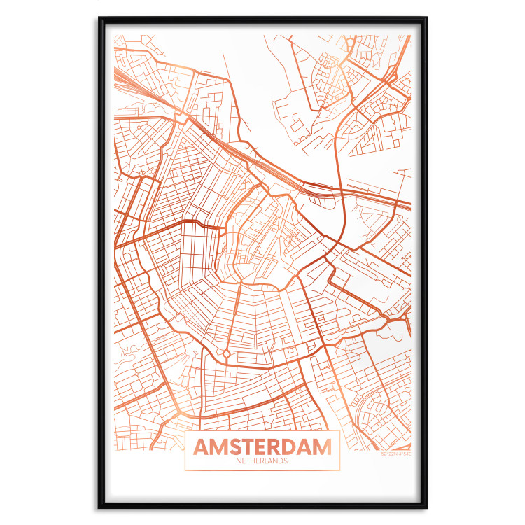 Map of Amsterdam [Deco Poster - Copper]