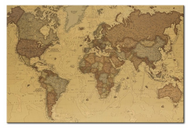Cork Pinboard Ancient World Map [Cork Map] 95943 additionalImage 1