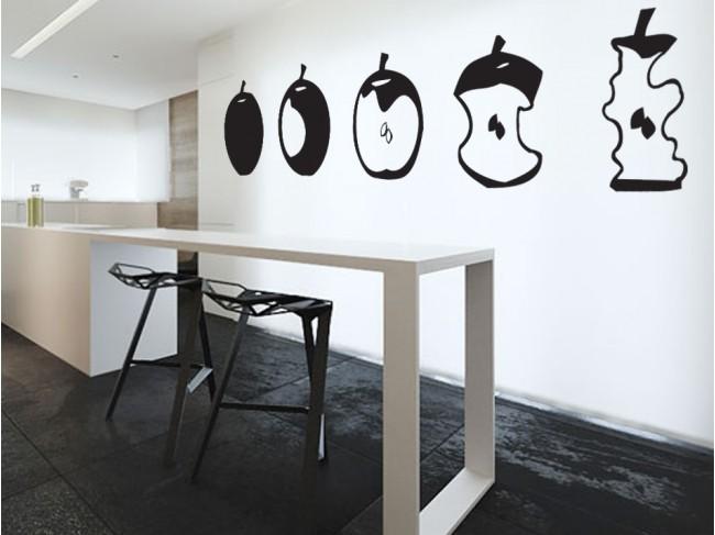 Adesivo per pareti Apple - Per cucina - Decorazione casa - Adesivi ...