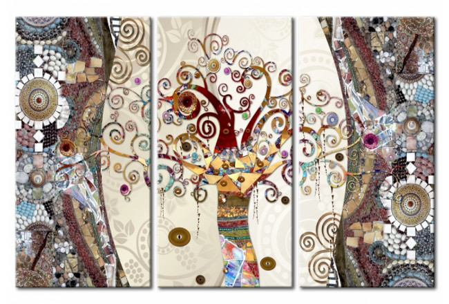Cuadro acrílico Mosaic Tree [Glass] 92753 additionalImage 1