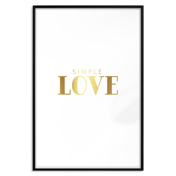 Simple Love [Deco Poster - Gold]