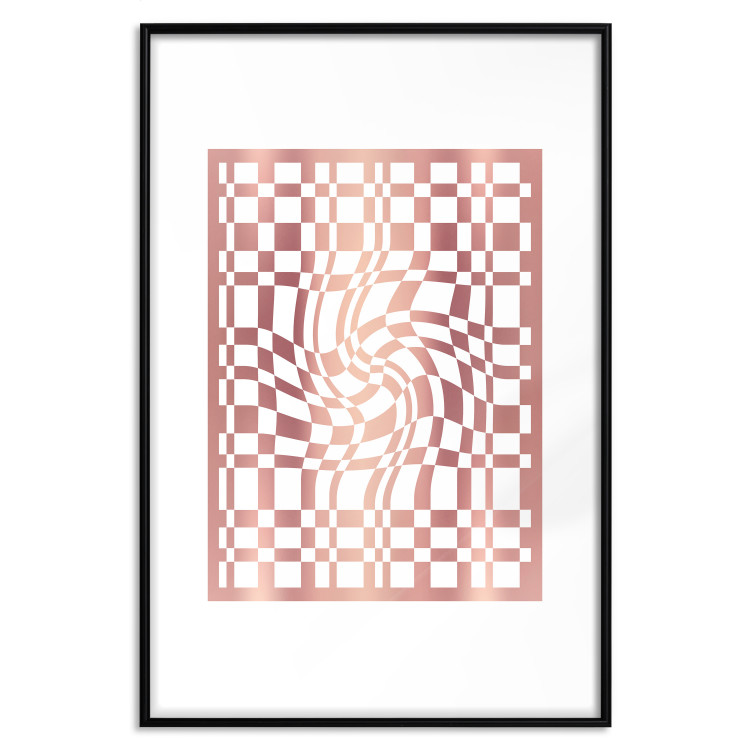 Distorted Chessboard [Deco Poster - Rose Gold]