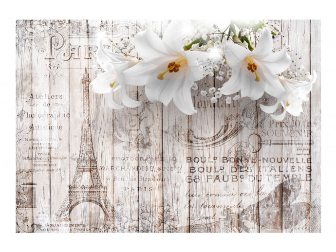 Photo Wallpaper Parisian Lilies 108073 additionalImage 1