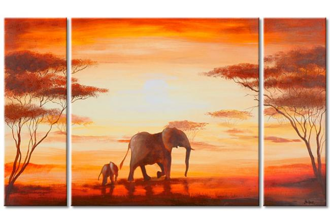 Decorative painting Elephants in Africa 47573