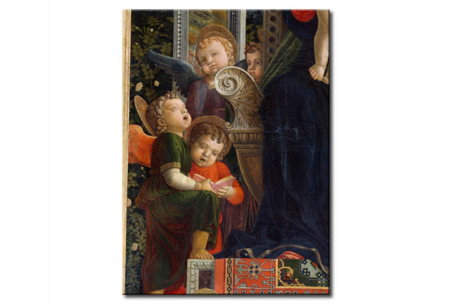 Quadro famoso Enthroned Virgin with Angels 109783