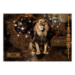Fotomural decorativo Golden Lion 125783 additionalThumb 1