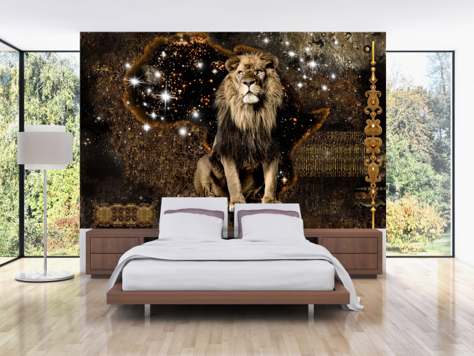Fotomural decorativo Golden Lion 125783