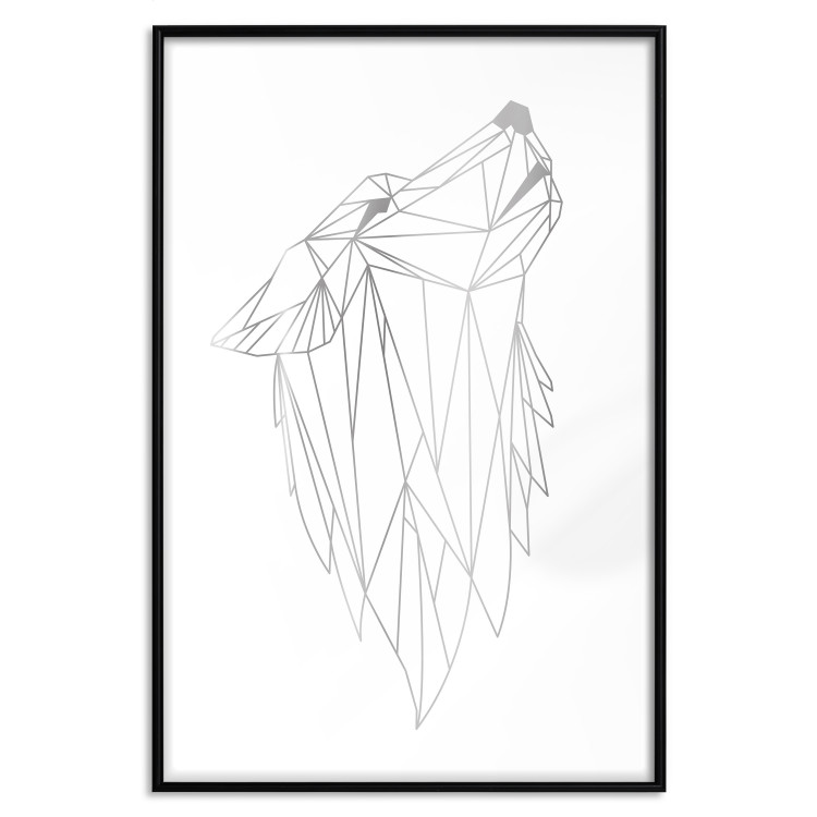 Geometric Wolf [Deco Poster - Silver]