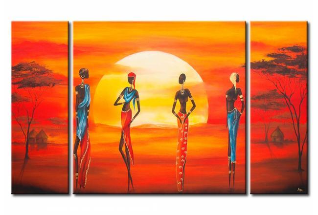Quadro Bellezza sotto il sole africano - Figure umane - Etnici e ...