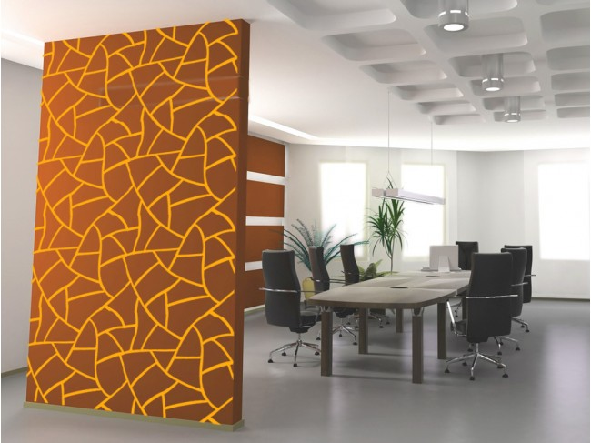 Vinilo pared Abstract pattern: giraffe 98783 additionalImage 2