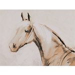Canvas Print White horse 49504 additionalThumb 2