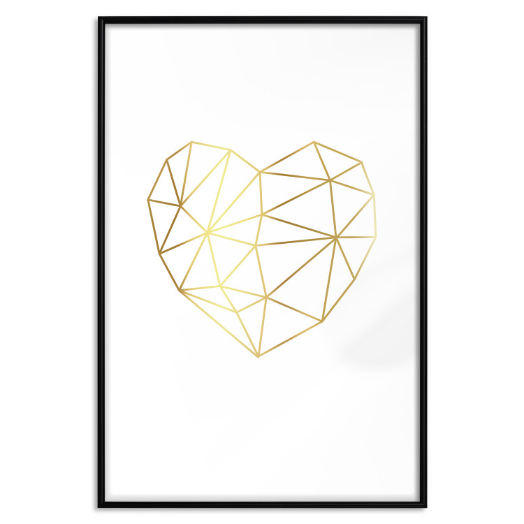 Love Mosaic [Deco Poster - Gold]