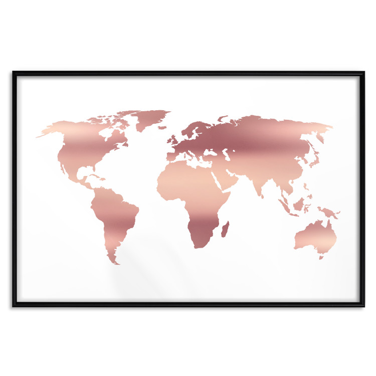 Continents [Deco Poster - Rose Gold]