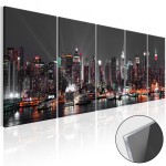 Print On Glass Glow in New York  [Glass] 104934