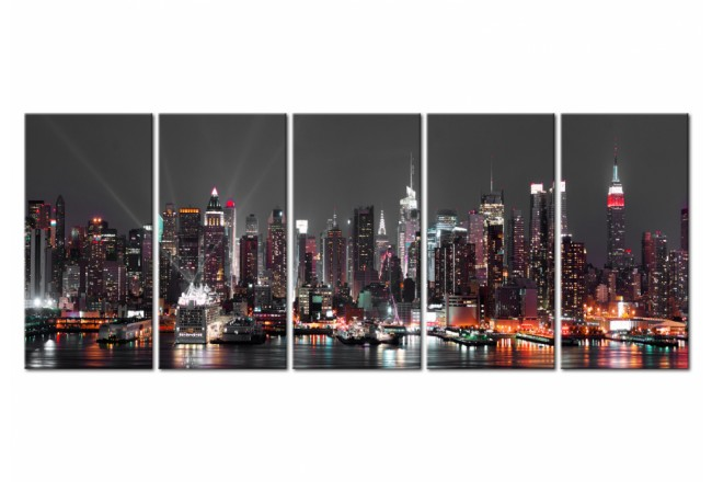 Print On Glass Glow in New York  [Glass] 104934 additionalImage 2