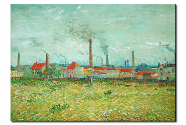 Reproduction Painting Factories at Asnières, seen from the Quai de Clichy 52434