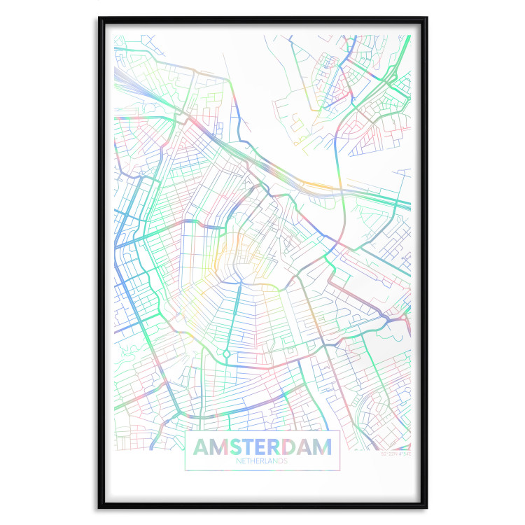 Map of Amsterdam [Deco Poster - Holographic]