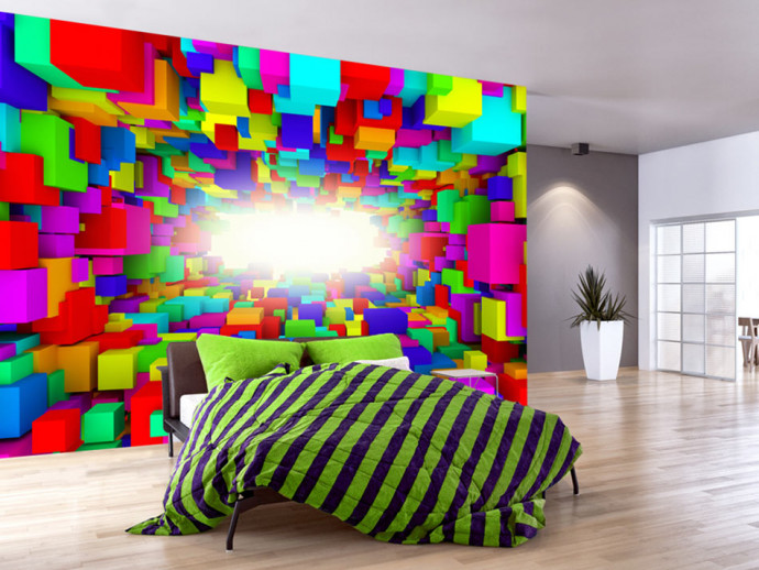Wall Mural Light In Color Geometry 62044
