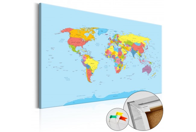 Cork Pinboard Rainbow Geography [Cork Map] 92744