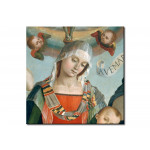 Riproduzione Mary with Child and the Trinity, Archangels and Saints 109854