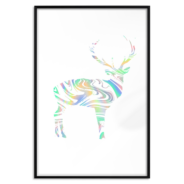 Black and White Deer [Deco Poster - Holographic]