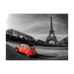 Photo Wallpaper Eiffel Tower and red car 59864 additionalThumb 1