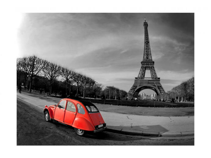 Photo Wallpaper Eiffel Tower and red car 59864 additionalImage 1