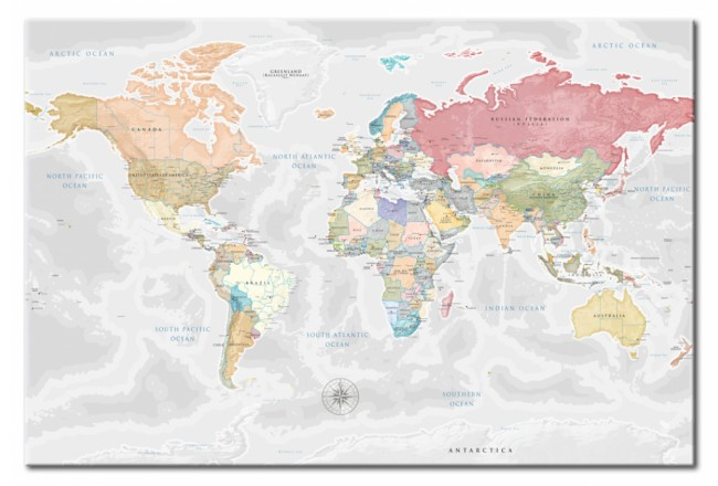 World Map: Dream Travel [Cork Map] 97364 additionalImage 1