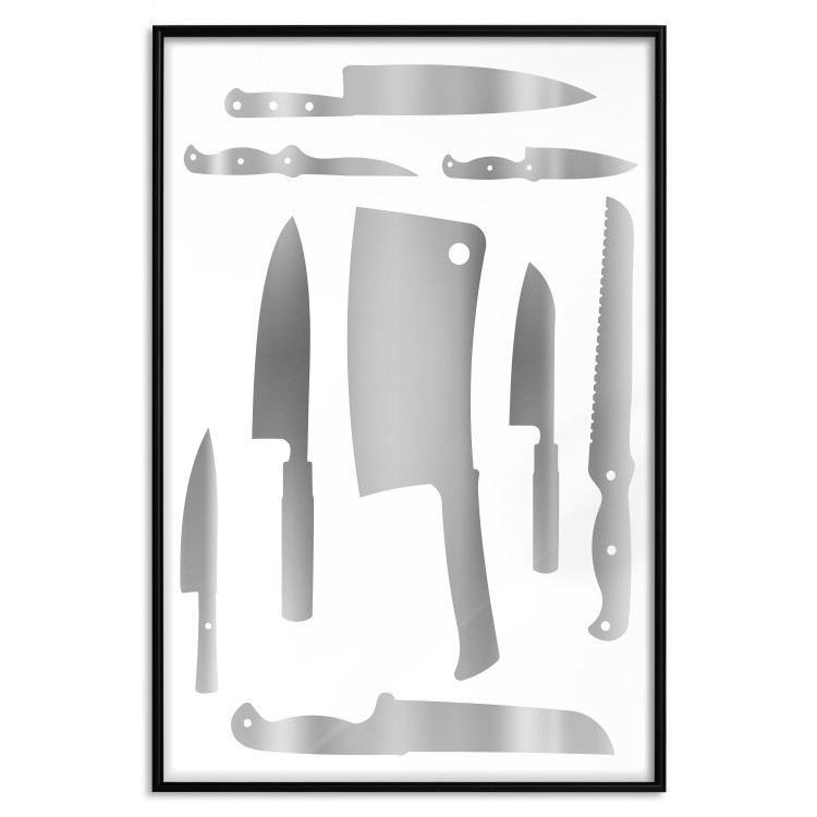Cleaver and Knives [Deco Poster - Silver]