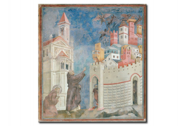 Quadro famoso St. Francis Frees the Town Arezzo of the Demons 112494