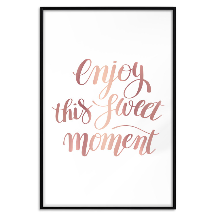 Enjoy This Sweet Moment [Deco Poster - Rose Gold]