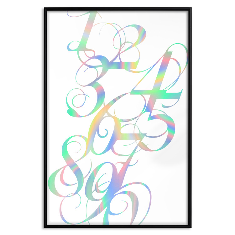 Calligraphy of Numbers [Deco Poster - Holographic]