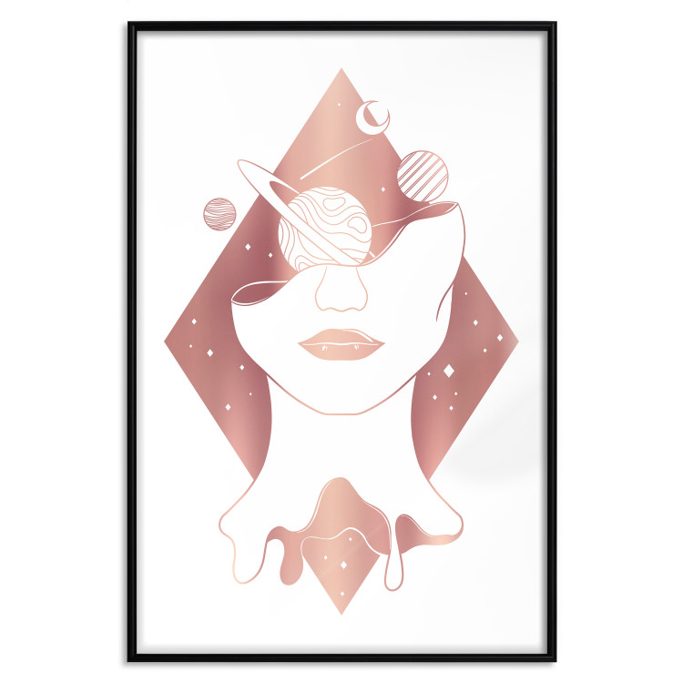 Cosmos in the Head [Deco Poster - Rose Gold]