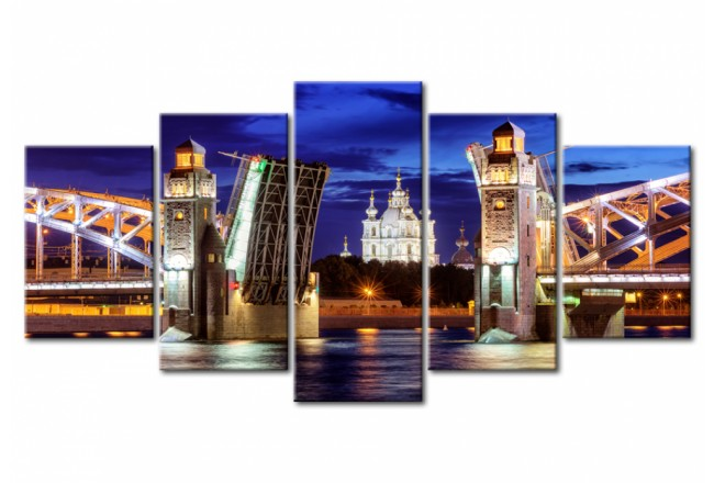 Stampa su vetro acrilico St. Petersburg by Night, Russia [Glass] 95705 additionalImage 1
