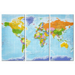 Tablero decorativo en corcho World Map: Countries Flags II [Cork Map] 97405 additionalThumb 1