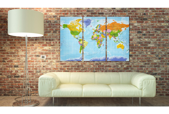 Lavagna decorativa di sughero World Map: Countries Flags II [Cork Map] 97405 additionalImage 2