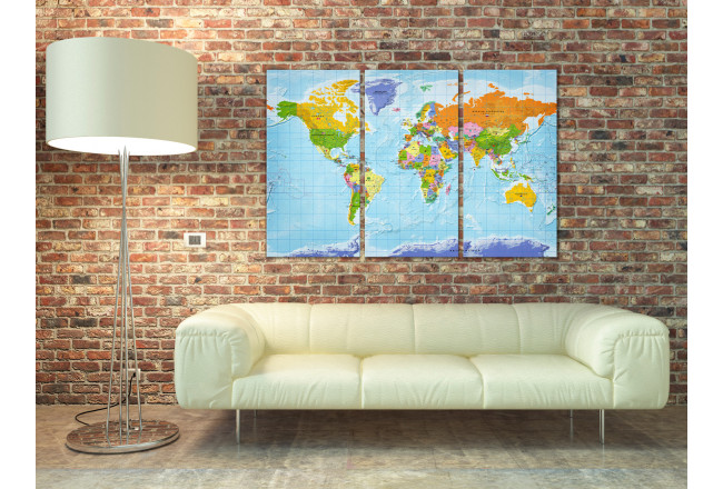 Lavagna decorativa di sughero World Map: Countries Flags II [Cork Map] 97405 additionalImage 3