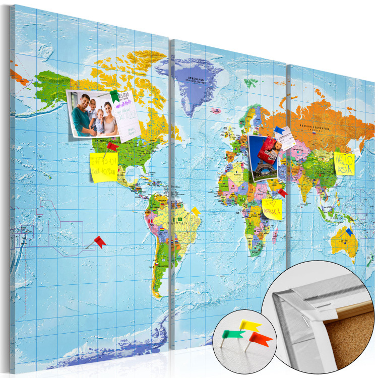 World Map: Countries Flags II [Cork Map]