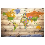 Map on wood: Colourful Travels [Cork Map] 97605 additionalThumb 2