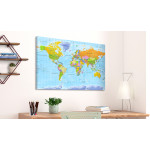 Tablero decorativo en corcho World Map: Orbis Terrarum [Cork Map - French Text] 105925 additionalThumb 2