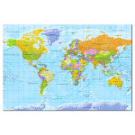 Tablero decorativo en corcho World Map: Orbis Terrarum [Cork Map - French Text] 105925 additionalThumb 1