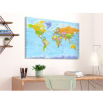 Tablero decorativo en corcho World Map: Orbis Terrarum [Cork Map - French Text] 105925 additionalThumb 3