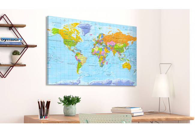 Tablero decorativo en corcho World Map: Orbis Terrarum [Cork Map - French Text] 105925 additionalImage 2