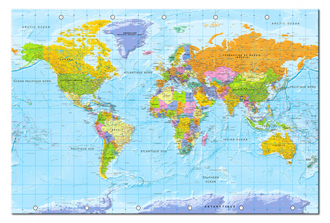 Tablero decorativo en corcho World Map: Orbis Terrarum [Cork Map - French Text] 105925 additionalImage 1