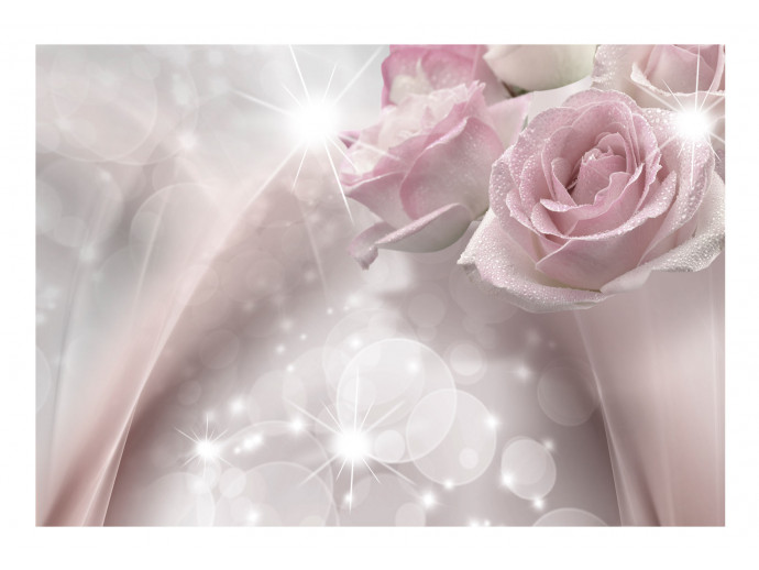 Photo Wallpaper Dewy Roses 107235 additionalImage 1