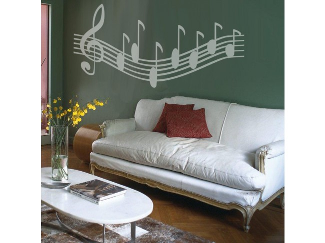 Wall Decal Musica notes 91535 additionalImage 3