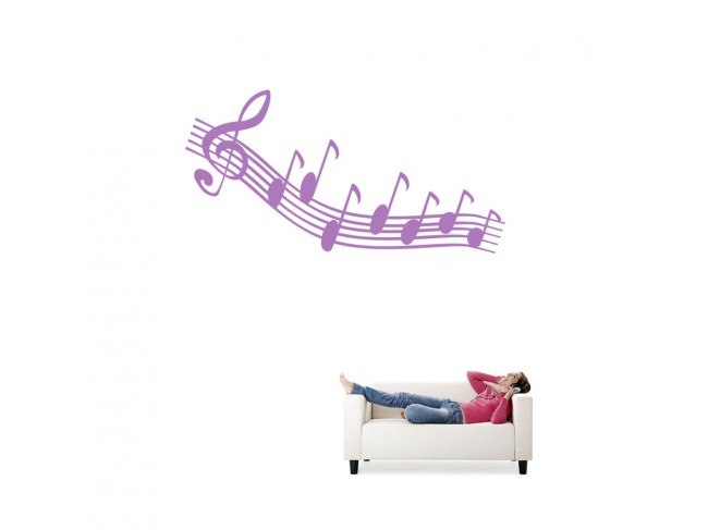 Wall Decal Musica notes 91535